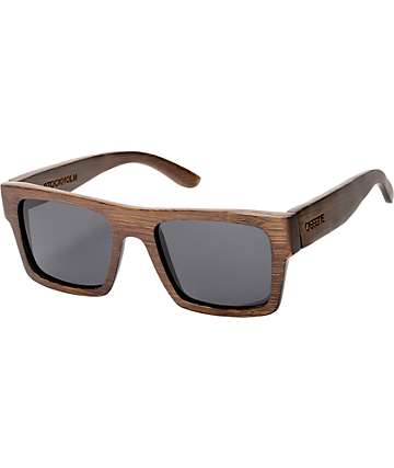 Cassette Stockholm Chocolate Brown Bamboo Sunglasses