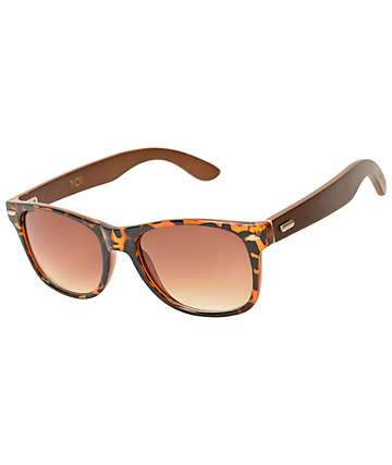 Cassette Yo! Chocolate Tortoise Bamboo Sunglasses