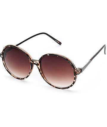 Castle Tortoise Large Round Sunglasses