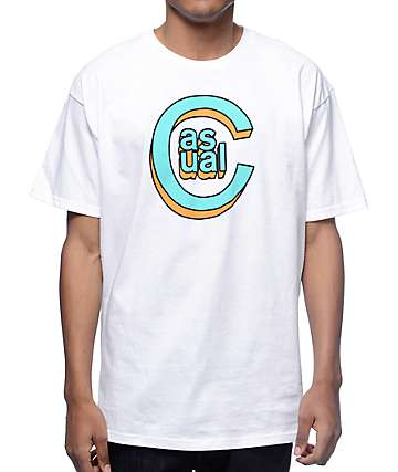 Casual Industrees C-Logo 3D White T-Shirt