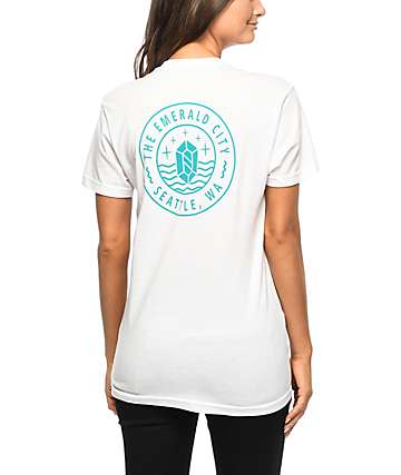 Casual Industrees Emerald City Seal White T-Shirt