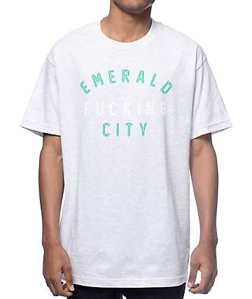 Casual Industrees Emerald Fucking City Ash T-Shirt