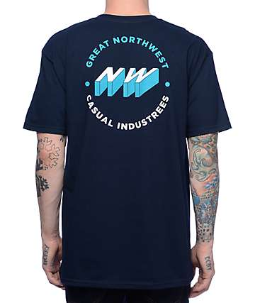 Casual Industrees Great NW 3d Navy T-Shirt