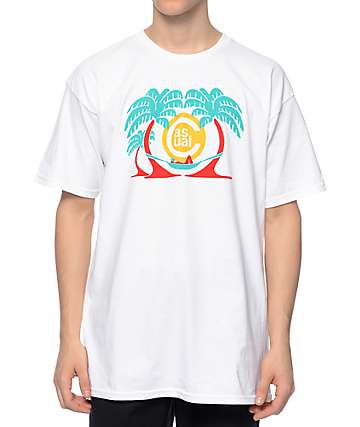 Casual Industrees In The Palms White T-Shirt