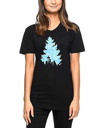 Casual Industrees Johnny Tree Pool Black T-Shirt