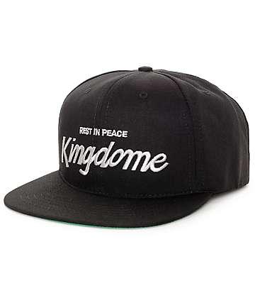 Casual Industrees Kingdome Script Black Snapback Hat