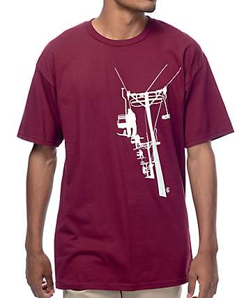 Casual Industrees NW Chairlift Burgundy T-Shirt