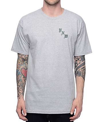 Casual Industrees NW Kingficsher Heather Grey T-Shirt