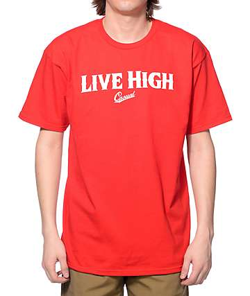 Casual Industrees NW Live High Red T-Shirt