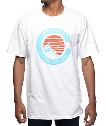 Casual Industrees NW Mountain White T-Shirt
