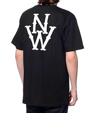 Casual Industrees NW Outfielder Black T-Shirt