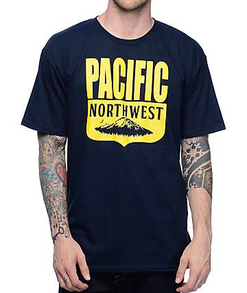 Casual Industrees NW PNW Shield camiseta en azul