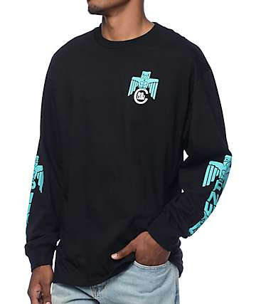 Casual Industrees NW PNW Totem Black Long Sleeve T-Shirt