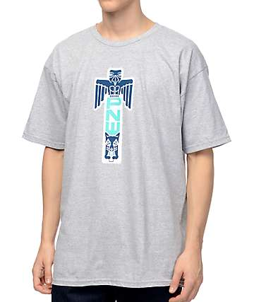Casual Industrees NW PNW Totem Heather Grey T-Shirt