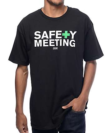 Casual Industrees NW Safety Meeting Black T-Shirt