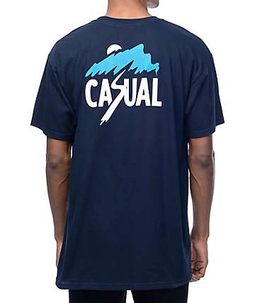 Casual Industrees NW Slash Mountain Navy T-Shirt