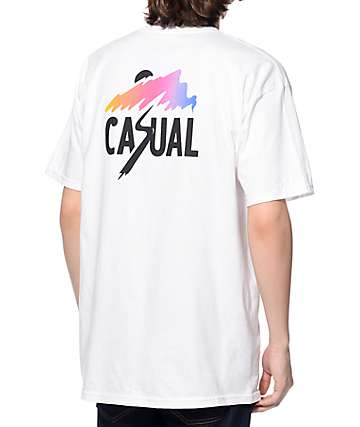 Casual Industrees NW Splash Fade White T-Shirt