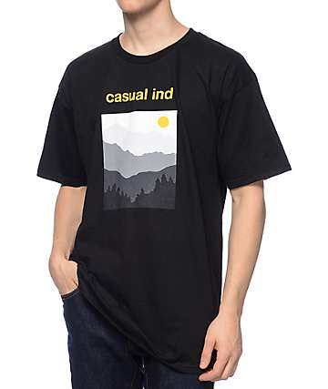 Casual Industrees NW The Cascades Black T-Shirt