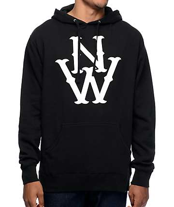 Casual Industrees NW The Outsider Black Pullover Hoodie