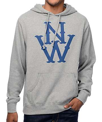 Casual Industrees NW The Outsider Heather Grey Pullover Hoodie