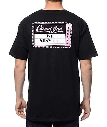 Casual Industrees NW We Stay Up Black T-Shirt