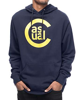 Casual Industrees North West C Logo Navy Pullover Hoodie