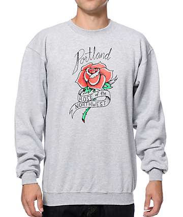 Casual Industrees OR NW Rose Crew Neck Sweatshirt
