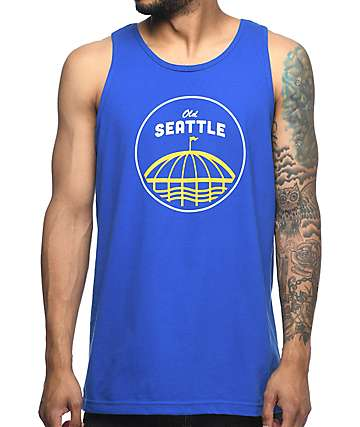 Casual Industrees Old Seattle camiseta azul sin mangas