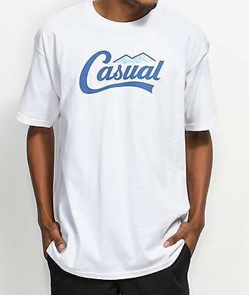Casual Industrees PNW Downtown Script camiseta blanca