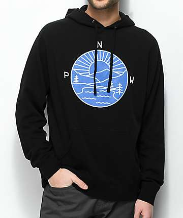 Casual Industrees PNW Explorer Black & Blue Hoodie