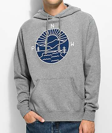 Casual Industrees PNW Explorer Heather Grey Hoodie