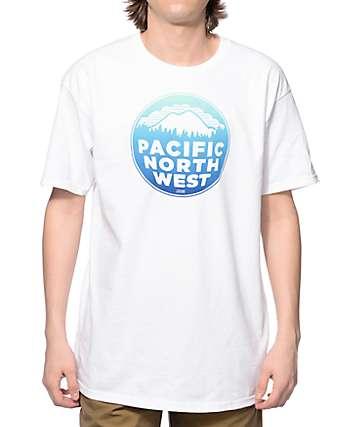 Casual Industrees PNW Fade camiseta blanca