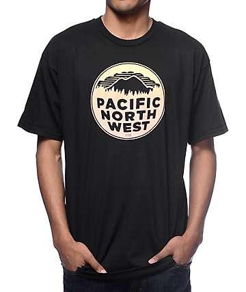 Casual Industrees PNW Fade camiseta negra