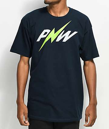 Casual Industrees PNW Lightning Bolt Navy T-Shirt