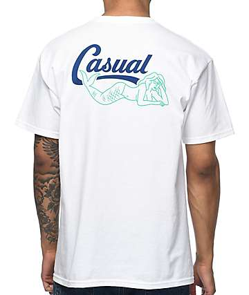 Casual Industrees PNW Mermaid camiseta blanca