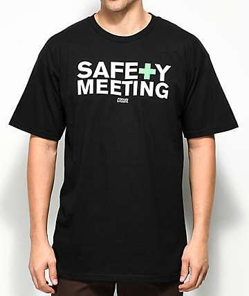 Casual Industrees PNW Safety Meeting Black T-Shirt