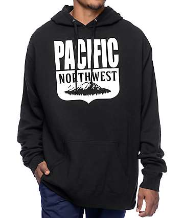 Casual Industrees PNW Shield Black Hoodie