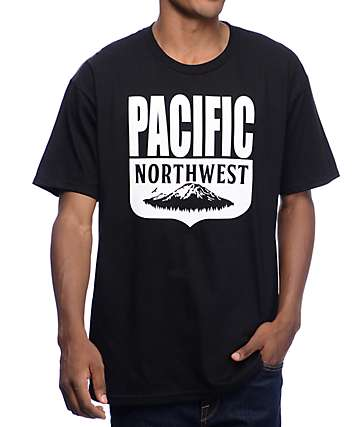 Casual Industrees PNW Shield camiseta en negro