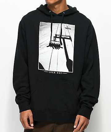 Casual Industrees PNW Sick Day Black Hoodie