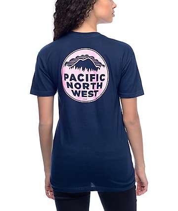 Casual Industrees PNW camiseta en azul marino