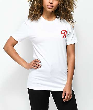 Casual Industrees R For Life White T-Shirt
