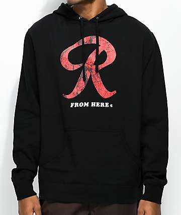 Casual Industrees Rainier R Map Black Hoodie