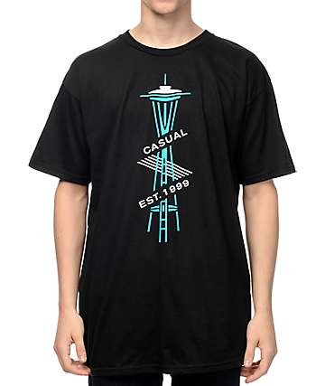 Casual Industrees SEA Est. 1999 Black T-Shirt