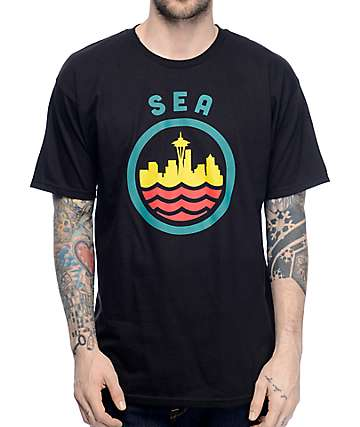 Casual Industrees SEA Seatown Classic camiseta negra