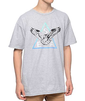 Casual Industrees SEA Triad 2.0 Fade Heather Grey T-Shirt