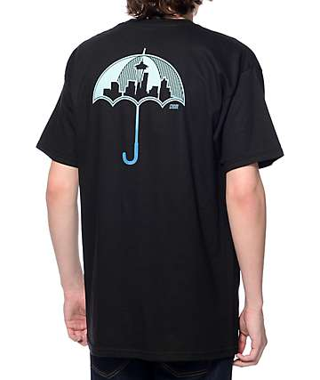 Casual Industrees SEA Umbrella 2 Fade Black T-Shirt