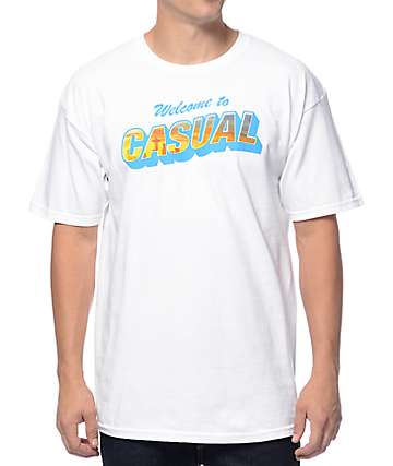 Casual Industrees SEA Welcome To Casual White T-Shirt