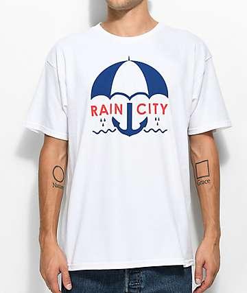 Casual Industrees Sea Rain City White T-Shirt