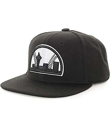 Casual Industrees Seattle Black Snapback Hat
