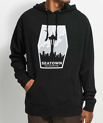 Casual Industrees Seattle Foul Weather sudadera negra